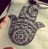 Hamsa Tattoo - The hamsa is an ancient Middle Eastern amulet symbolizing the Hand of God.